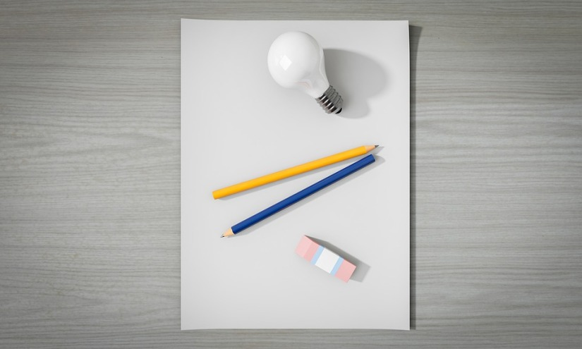 Paper Idea Empty Creativity Pen No Light Bulb
